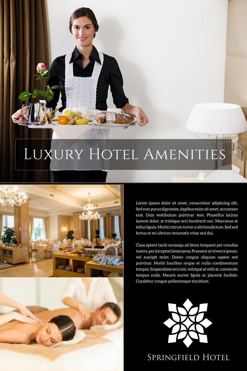 Hotel Amenities Poster Template Preview 2