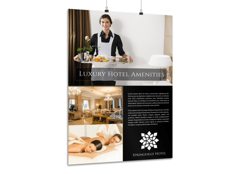Hotel Amenities Poster Template Preview 1