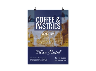 Hotel Coffee Event Poster Template preview