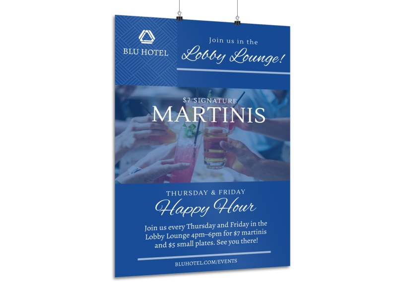 Hotel Drink Specials Poster Template