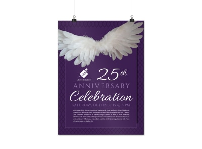 Beautiful Church Anniversary Poster Template