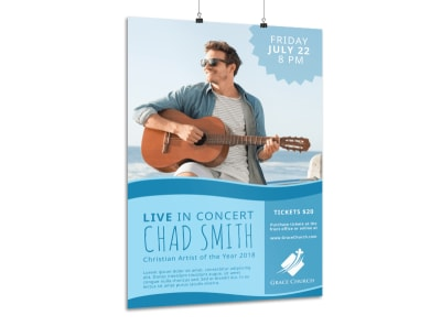 Live Christian Concert Poster Template preview