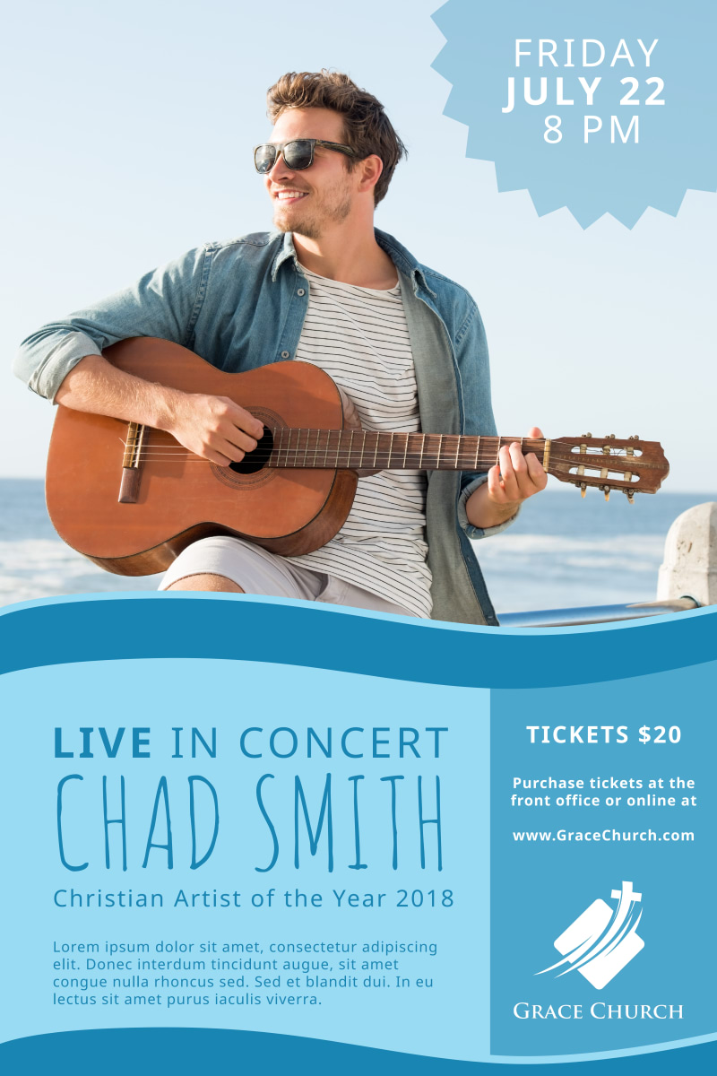 Live Christian Concert Poster Template Preview 2