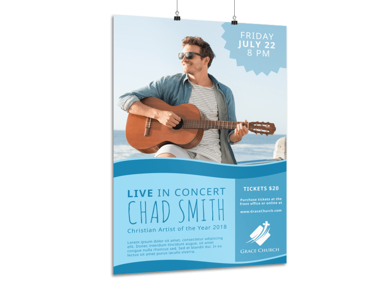Live Christian Concert Poster Template Preview 1
