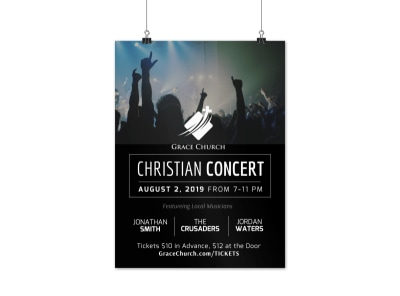Church Christian Concert Poster Template