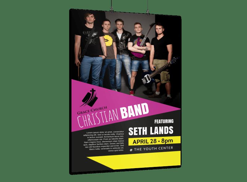 Church Band Concert Poster