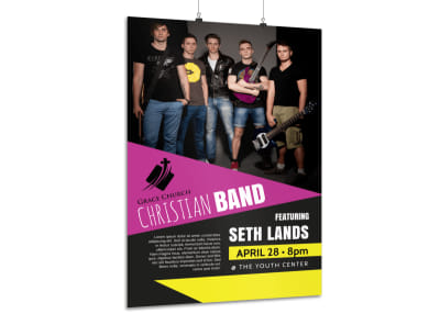 Church Band Concert Poster Template preview
