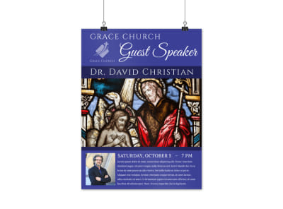 Guest Church Speaker Poster Template