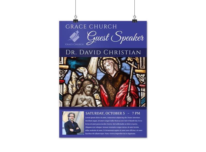 Guest Church Speaker Poster Template