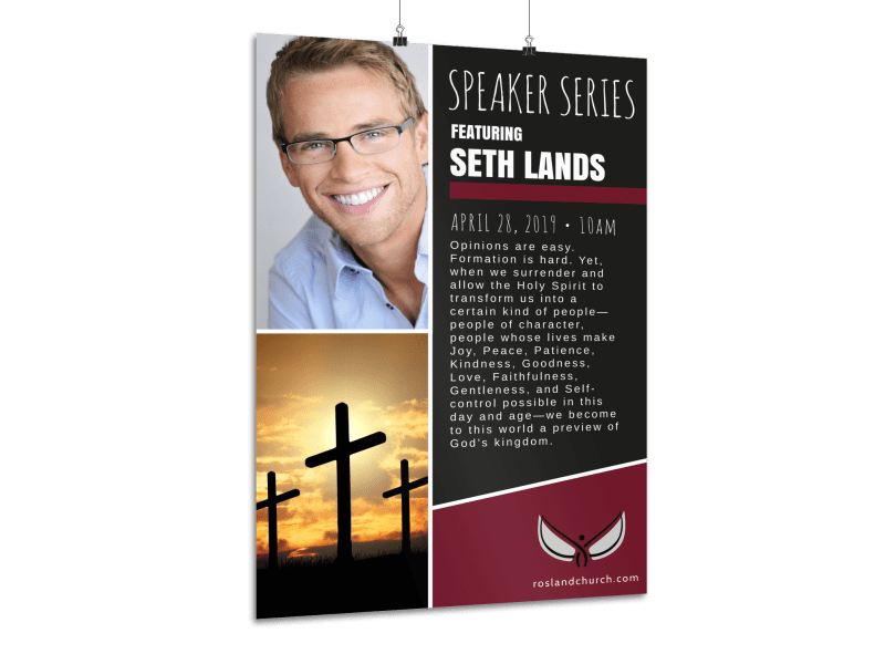 Church Guest Speaker Poster