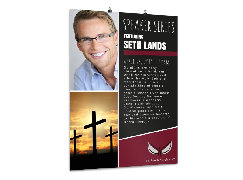 Church Guest Speaker Poster Template Preview 3