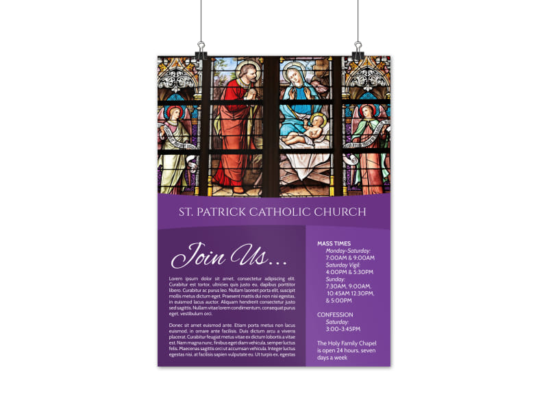 Church Service Poster Template