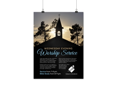 Church Workshop Service Poster Template