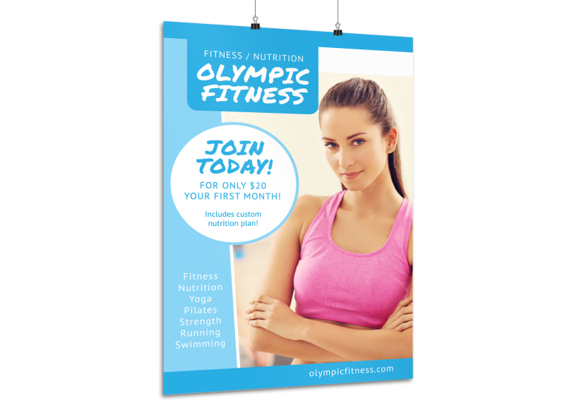 Olympic Fitness Motivational Poster Template