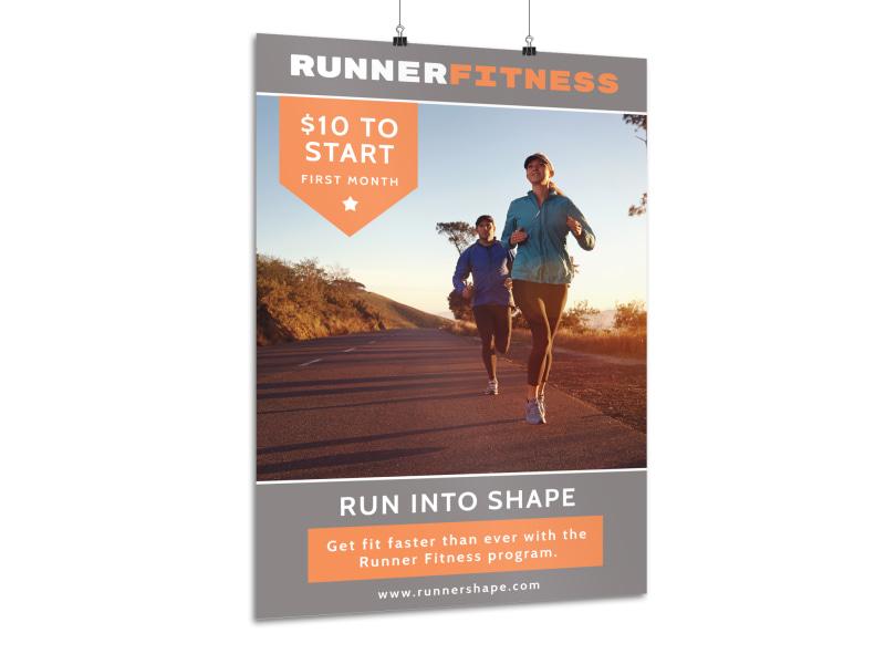 Runner Fitness Poster Template