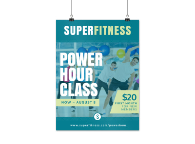Fitness Club Fitness Poster Template idcy8p83ys preview
