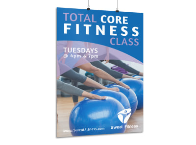 Total Fitness Class Poster Template preview