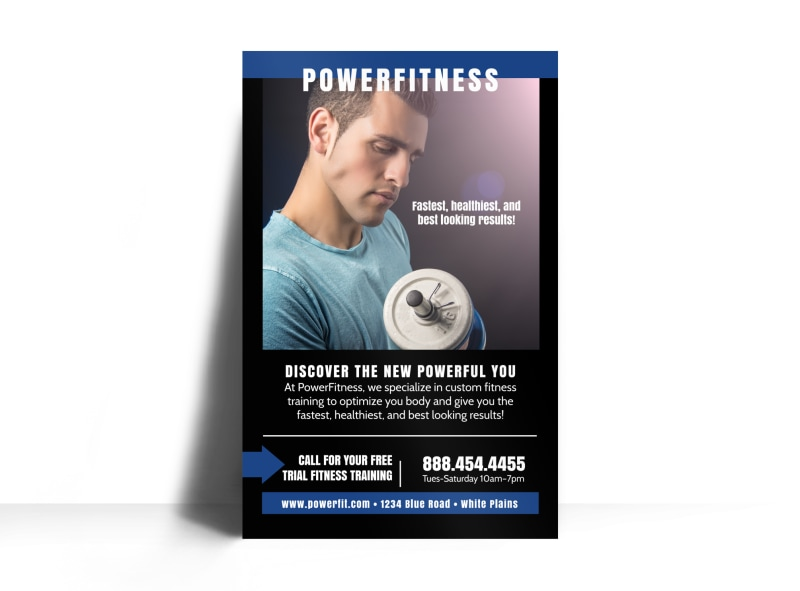 Power Fitness Class Poster Template