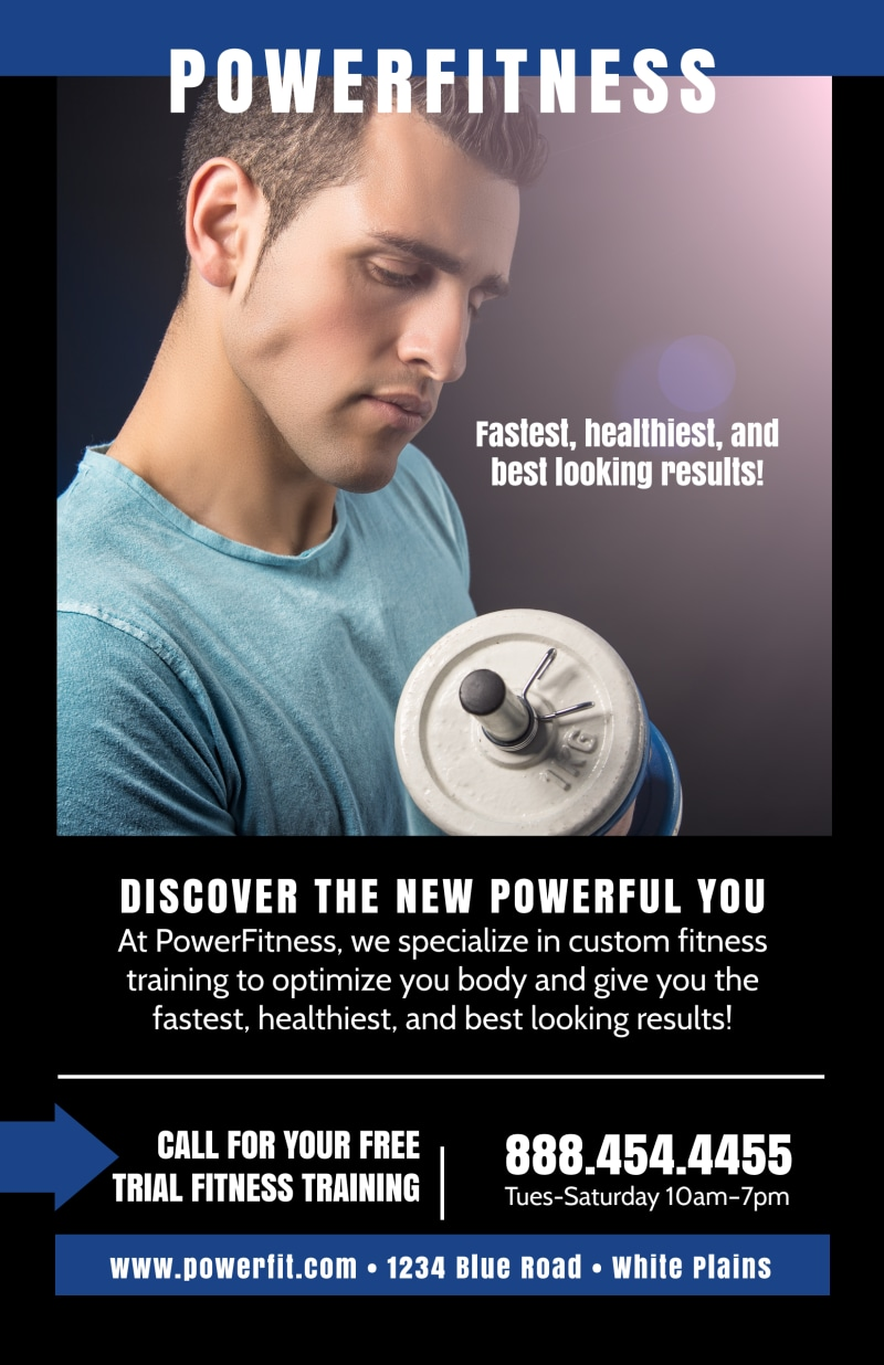 Power Fitness Class Poster Template Preview 2