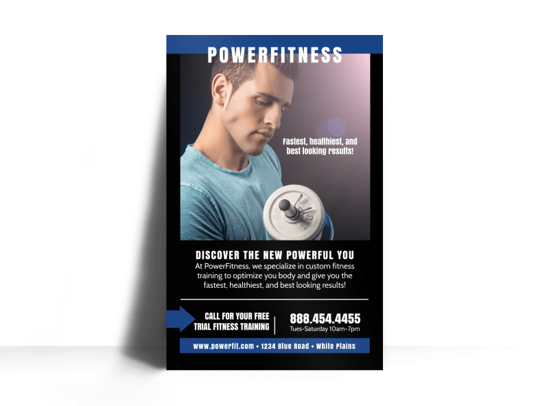 Power Fitness Class Poster Template Preview 1