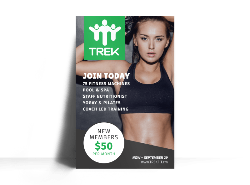 Fitness Membership Poster Template Preview 1