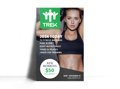 Fitness Membership Poster Template preview