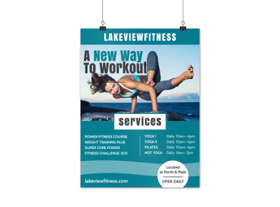 Fitness Workout Poster Template preview