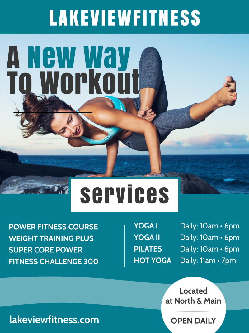 Fitness Workout Poster Template Preview 2