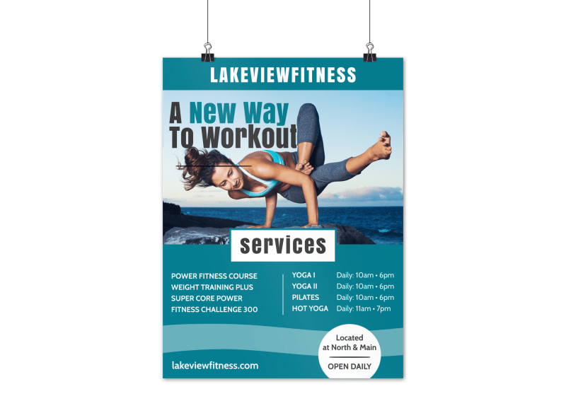 Fitness Workout Poster Template Preview 1