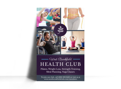 Fitness Health Club Poster Template