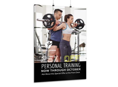 Personal Trainer Special Offer Poster Template preview
