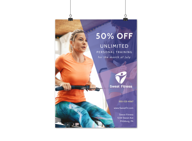Fitness Trainer Promo Poster Template Preview 1