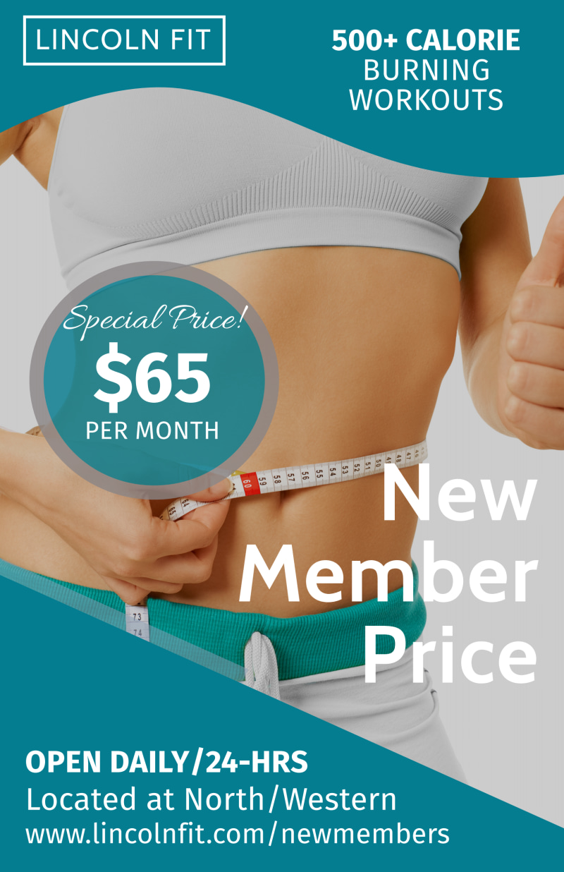 Fitness New Member Pricing Poster Template Preview 2