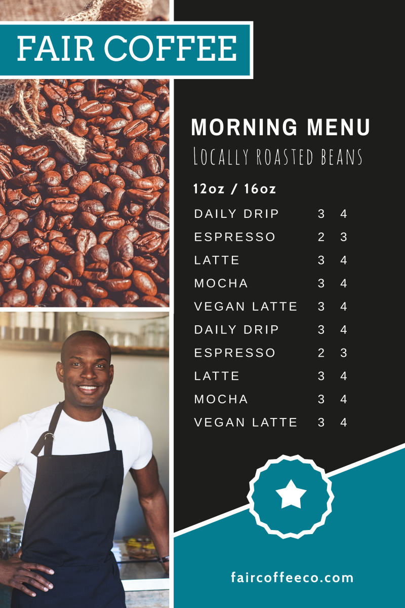 Coffee Morning Menu Poster Template Preview 2
