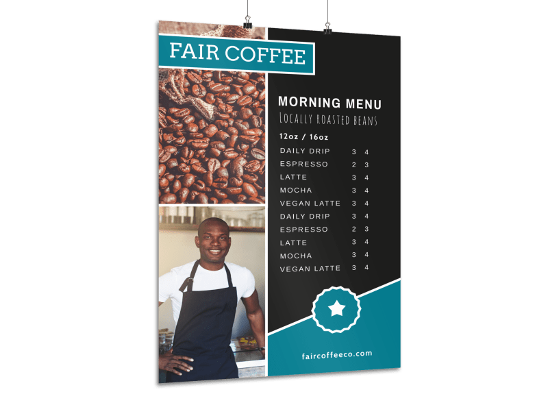 Coffee Morning Menu Poster Template Preview 1