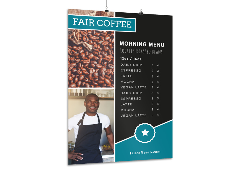 coffee morning menu poster template mycreativeshop