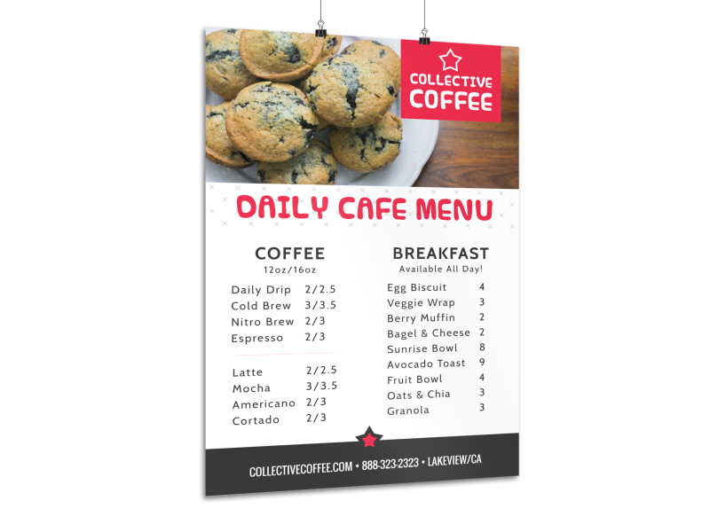 coffee daily menu poster template mycreativeshop
