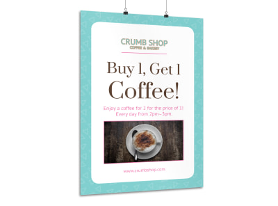 Coffee BOGO Poster Template