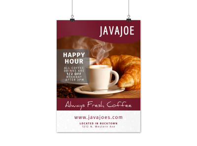 Happy Hour Coffee Shop Poster Template 5miw28rd3m preview