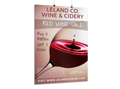 Red Wine Tasting Poster Template preview