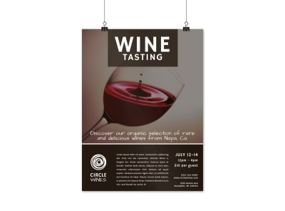 Classic Wine Tasting Poster Template preview