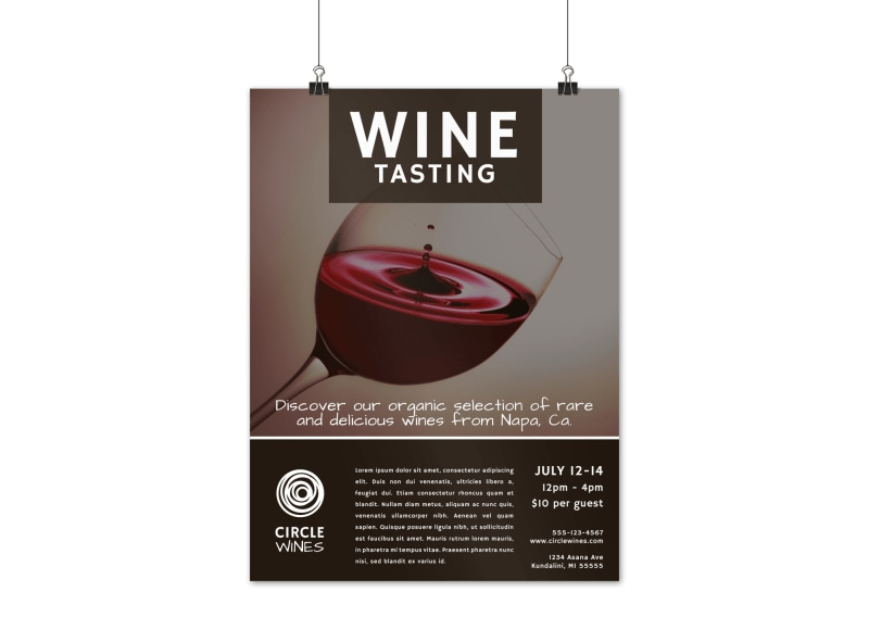 Classic Wine Tasting Poster Template Preview 3