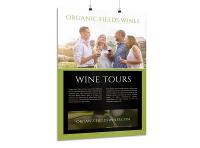 Organic Wine Tour Poster Template preview