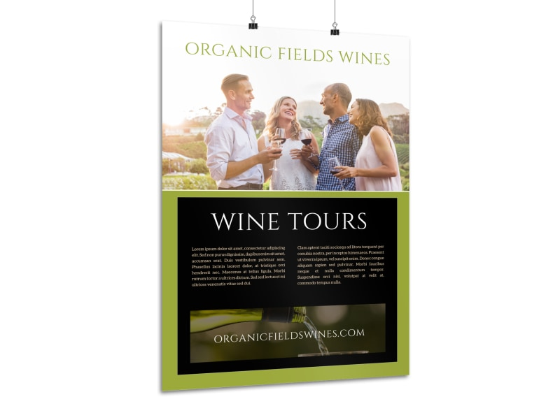 Organic Wine Tour Poster Template