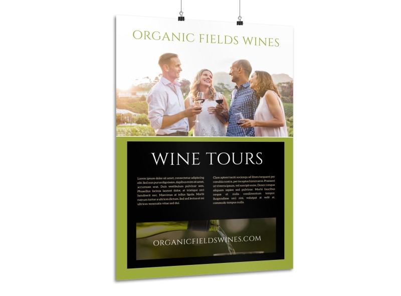 organic wine tour poster template mycreativeshop