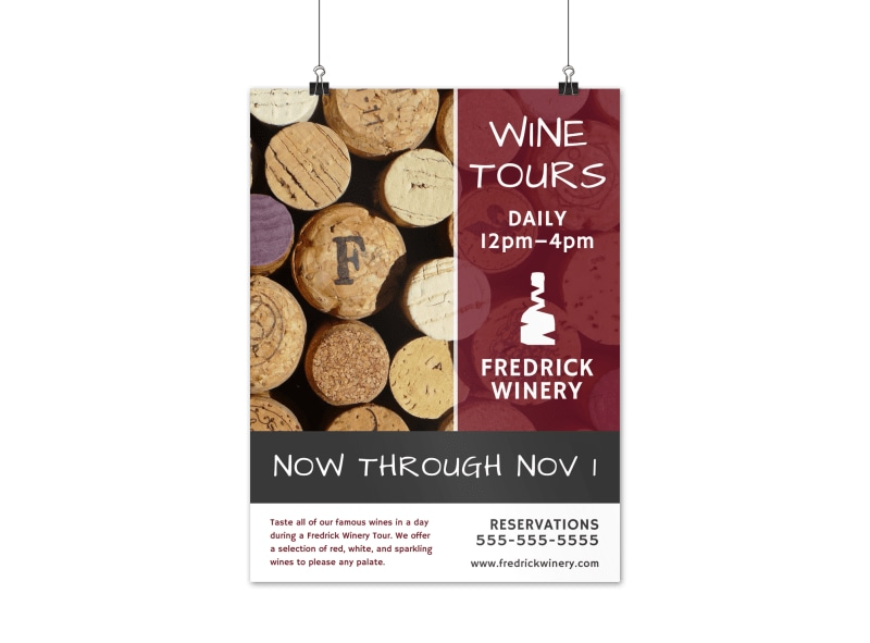 Daily Wine Tour Poster Template