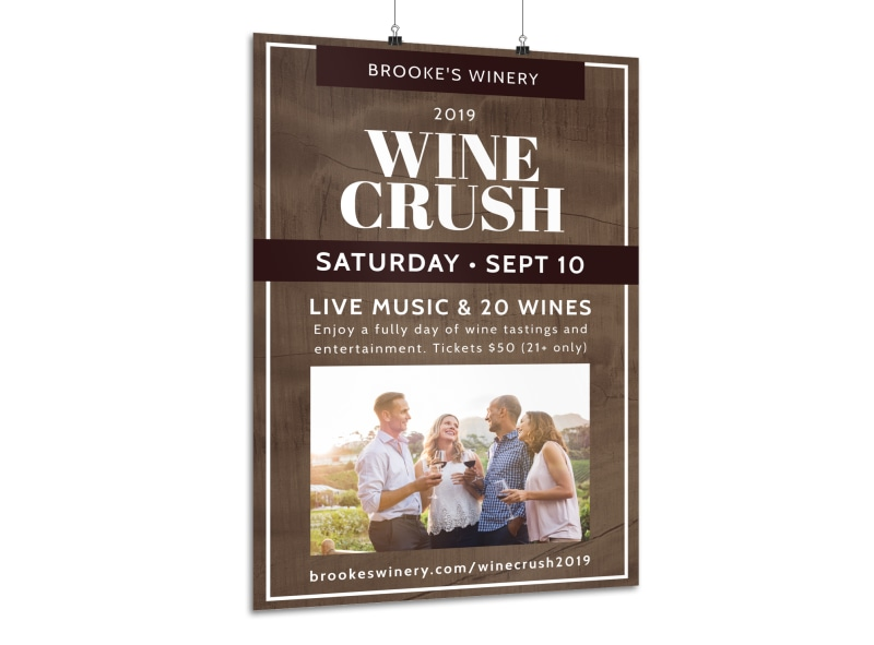 Wine Crush Festival Poster Template