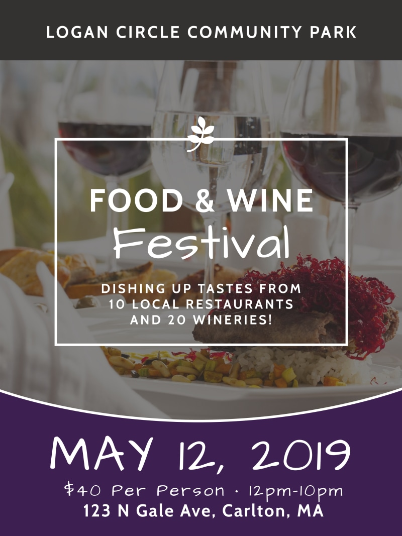 Food & Wine Festival Poster Template Preview 2