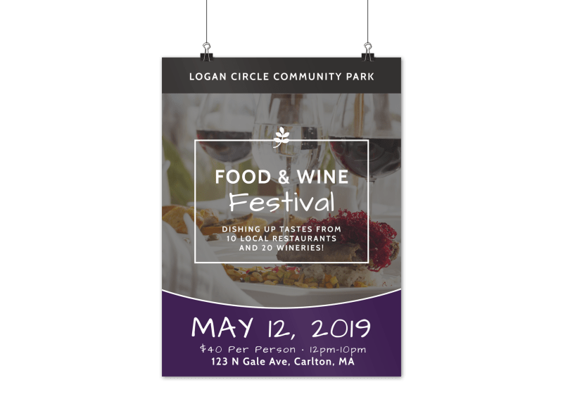 Food & Wine Festival Poster Template Preview 1