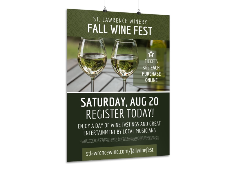 Fall Wine Festival Poster Template